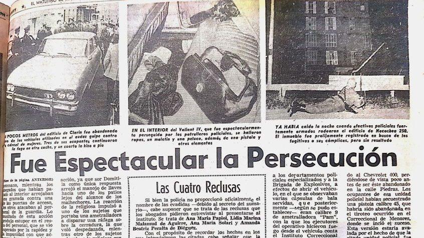 «Audaz golpe en la Cárcel de Mujeres»